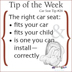 The right car seat is...