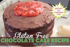 Gluten Free Chocolate Cake Recipe – Vegan via @aLittleInsanity