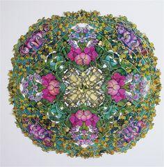Silk painting by Dorte Christjansen