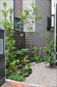 玄関付近から眺める和風ナチュラルな小庭