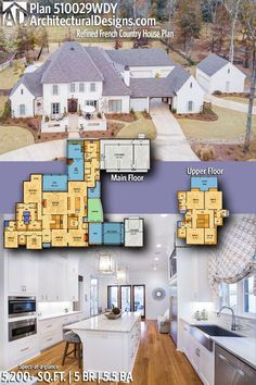 Architectural Designs Southern House Plan 510029WDY   5 beds   5.5 baths   5,200 Sq.Ft.+   Ready when you are! Where do YOU want to build? #510029WDY #adhouseplans #architecturaldesigns #houseplan #architecture #newhome #newconstruction #newhouse #homedesign #dreamhouse #homeplan #architecture #architect #houses #homedecor #kitchen #greatroom #kitchendesign #southernhome #southernhouse #southerliving #europeandesign #frenchcountry #house #home