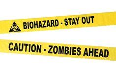 Biohazard and Zombie Crime Scene Tape