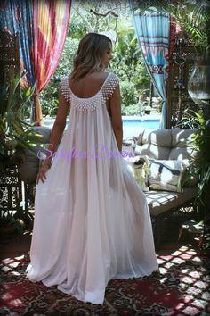 Cotton Nightgown Off White Cotton Sleepwear Honeymoon Cotton  c78a91a3b