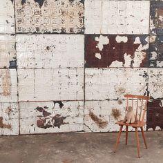 antique painted metal panels