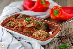 Involtini+di+peperoni+alla+Siciliana+-+Peperoni+ripieni+ammolicati Best Italian Recipes, Broccoli, Mashed Potatoes, Prosciutto Cotto, Beef, Vegetables, Ethnic Recipes, Contouring, Oven