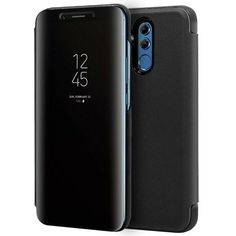Funda Carcasa Flip Cover Tapa Espejo para HUAWEI MATE 20 LITE Clear View Negro Galaxy Phone, Samsung Galaxy, Iphone, Ebay, Leather Case, Mobile Cases, Mirrors, Black People