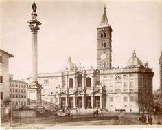 Basilica di Santa Maria Maggiore Vintage albumen print Tirage albuminé 20x25 Circa 1875