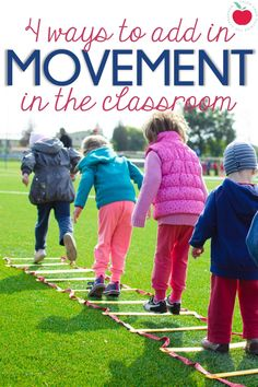 These 4 ideas for adding movement into the classroom are easy to implement and bring some fun to your days.  Get your kids out of their seats and up and moving!