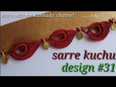 ಸೀರೆ ಕುಚ್ಚು tassels with beads designs tutorial for bignners.learn with me Saree Kuchu New Designs, Saree Tassels Designs, Fancy Blouse Designs, Crochet Edging Patterns, Crochet Designs, Crochet Stitches, Designer Blouse Patterns, Designer Dresses, Handmade Rakhi