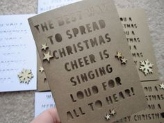 Christmas cards made with my Silhouette Cameo | Kelly Xenos