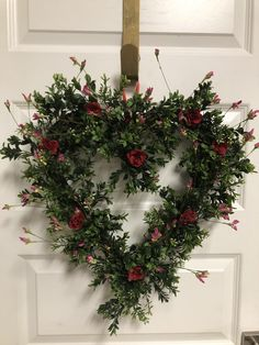 Roses are Red-Valentine Boxwood Heart Wreath - Bonnie Harms Designs Christmas Door Decorations, Diy Christmas Ornaments, Rustic Christmas, Christmas Home, Christmas Wreaths, Holiday Decor, White Christmas, Boxwood Wreath, Door Wreaths