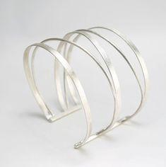 Zilveren Manchet armband Zilveren armband brede manchet