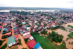 A Department of National Defense aerial photograph shows buildings and roads submerged by floodwaters in Rodriguez town, Rizal province, east of Manila, on August 8, 2012. Emergency workers and troops rushed food, water and clothes to nearly 850,000 people displaced and marooned from deadly floods spawned by 11 straight days of southwest monsoon rains that soaked the Philippine capital and nearby provinces. (Reuters/Department of National Defense)