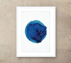Framed 'Big Blue Blob' Contemporary Print. 297 x by OverandOverltd, £32.99