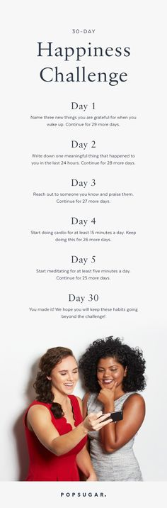 Feeling down? It's time to take this 30-Day Happiness Challenge!