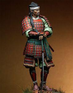1/18  Japanese red samurai  90mm   Historical toy Resin Model Miniature Kit unassembly Unpainted Samurai Weapons, Samurai Armor, Samurai Helmet, The Last Samurai, Japanese Warrior, Japanese History, Samurai Tattoo, Medieval Armor, Miniature Figurines