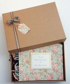 "Hen Party Memory Book - Bridal Shower Guest Book - Hen Night Photo Album - Gift for Bride - Bride's Journal -  10""x8"" handmade scrapbook"