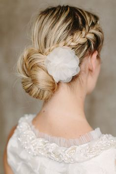Bridal Silk Flower Wedding Hair Flower  Flor by BelleJulieShop