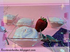 Recetario Burbu: Mousse de chocolate blanco con fresas th