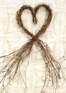 Our Heart Vine Wreath adds a beautifully rustic accent to any space. It can be paired alongside many of our other wall displays. The wreath can also have florals or ribbon added to it for additional detail. The wreath measures 6 wide by 20 high. Twig Crafts, Fun Diy Crafts, Heart Crafts, Nature Crafts, Wood Crafts, Vine Wreath, Twig Wreath, Heart Wreath, Burlap Wreath