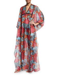 Conchiglie+Printed+Long+Caftan+Coverup+by+Emilio+Pucci+at+Neiman+Marcus.