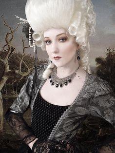 Marie Antoinette Wig / Rococo Style Wig /  Masquerade Party Wig / Powdered Wig / Baroque Wig