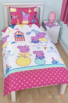 Parure de lit Peppa Pig et Georges  http://www.toluki.com/prod.php?id=588 #enfant #toluki