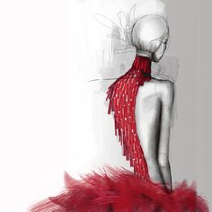 Alexander McQueen S/S 2001 Fashion Illustration Gif by Johnathan Hayden via GIPHY