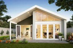 Granny Flat Plans, Retirement House Plans, Backyard House, Farm House, Little House Living, Summit Homes, Modern Minimalist House, Modern House Facades, Concrete Houses