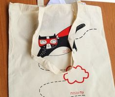 Messy My Superhero Cat Tote Bag Giveaway!