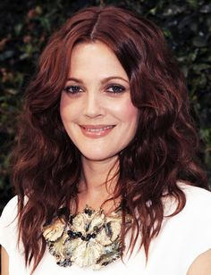 red/brown colour - Drew Barrymore
