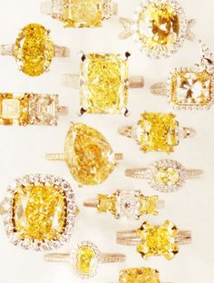 Canary Yellow Diamond Rings at London Jewelers. What's your style?