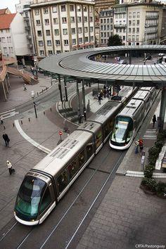 STATION HOMME DE FER | STRASBOURG | ALSACE | FRANCE: *Strasbourg Tramway*