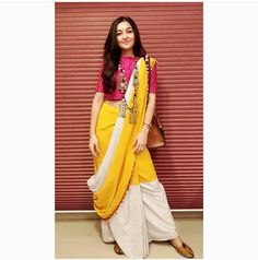 Sonam luthria Elegant Indian Saris Click VISIT link for more details Saree Wearing Styles, Saree Styles, Indian Fashion Trends, Indian Designer Outfits, Boho Fashion, Fashion Top, Fashion Dresses, Trendy Sarees, Stylish Sarees