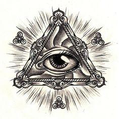 all seeing eye tattoo designs | All Seeing Eye Work Towards A Tattoo Design | We Heart It