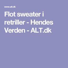 Flot sweater i retriller - Hendes Verden - ALT.dk