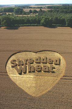 """""""Shredded Wheat"""" - crop circle advertising by UK agency CURB"""