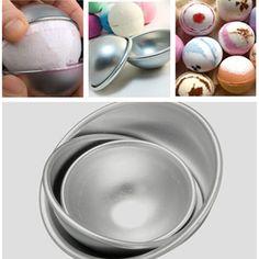 3 Sizes Aluminum Ball Fondant Cake Mold Semicircle Pudding Mold