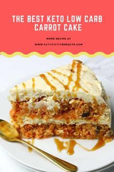The BEST Keto Low Carb Carrot Cake - This is by far the BEST Low Carb Carrot that I've had the chance to make. I've been eating keto for almost a year and we love carrot cake so. Low Carb Desserts, Low Carb Recipes, Paleo Recipes, Easter Recipes, Dessert Recipes, Dinner Recipes, Low Carb Carrot Cake, Keto Postres, Keto Cake
