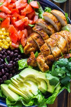 Southwestern Chicken Salad with Creamy Cilantro Dressing