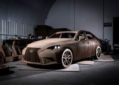 Japanese car brand Lexus used 1,700 individually shaped cardboard sheets to create a fully functional replica of its IS saloon model.