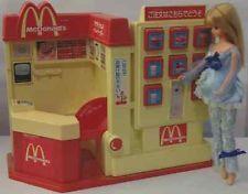 VNTG McDonald's Fast Food Restaurant Takara Jenny Barbie Skipper Kelly Play Set