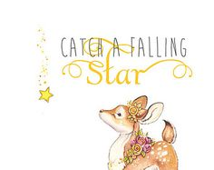 Dream Big Little One Baby Deer Fawn Quote Art by PosieMeadows