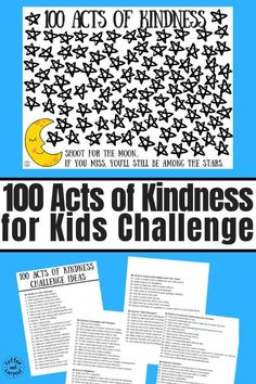 100 Acts of Kindness for kids challenge to encourage kids to be kinder. # kindness activities for kids How to Encourage Kindness With This 100 Acts of Kindness for Kids Kindness For Kids, Teaching Kindness, Kindness Activities, Random Acts Of Kindness Ideas For School, Teaching Kids, Kids Learning, Learning Activities, Activities For Kids, Early Learning