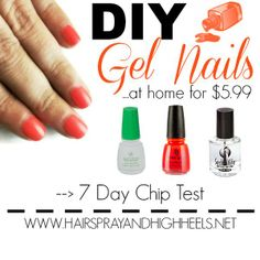 "DIY ""Gel Nails"" at home with Ange's special method, and using Gelous Advanced Nail Coat."