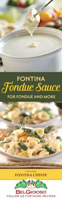 What goes well with our Fontina cheese? EVERYTHING, especially when you dunk it into our mouthwatering Fontina fondue sauce.