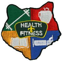 HEALTH AND FITNESS ideas for the Wolf Den, Bear Den, and Webelos Den. Skits, Jokes and Run-ons, Game, Song, Craft or Activity, and Belt Loop ideas from Alpine District Cub Scouts.