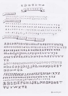 Sketchnote Fonts Inspired And Curated From Books Internet For Example The Musician Typeface By