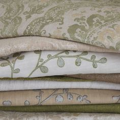 Beautiful stack of Charleston fabrics by Blendworth