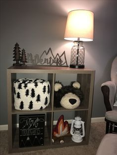 Woodland nursery theme cube
